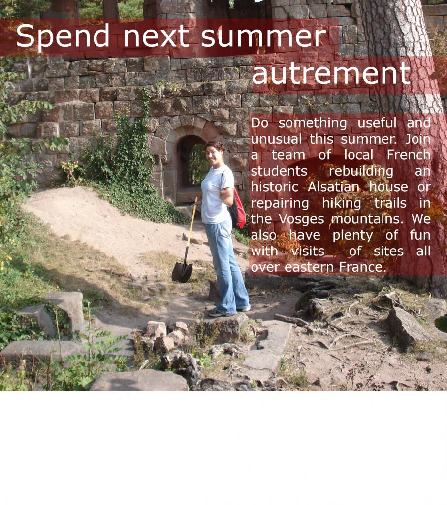 Spend next summer autrement