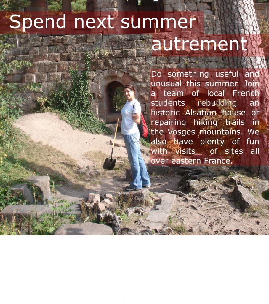 Spend next summer autrement